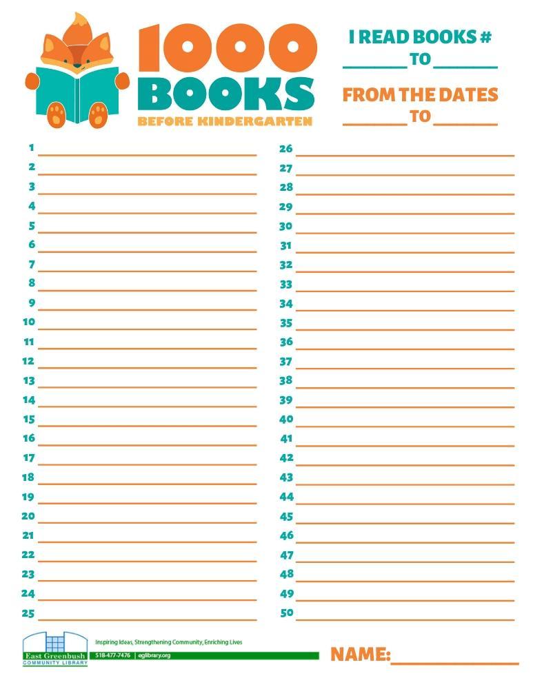 1000 Books Lines