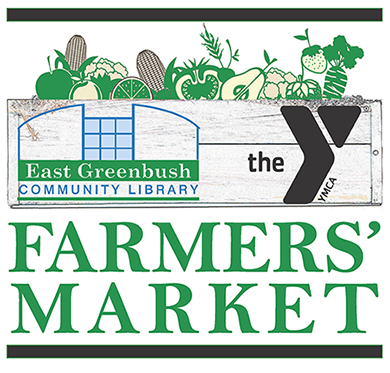 EG Library and Greenbush Area YMCA Farmers' Market logo