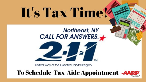 Tax Aide appointments using 211 call center