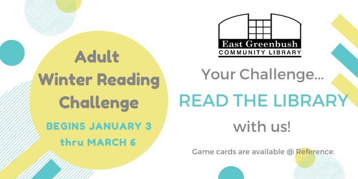 Winter Reading Challenge begins 1/3!