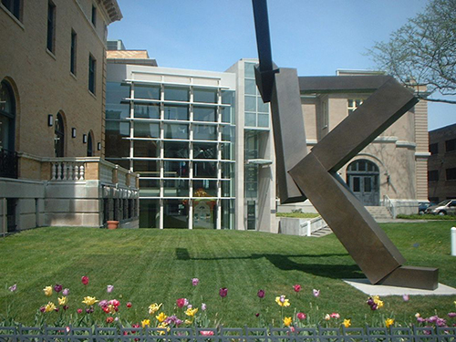 Sculpture outside of Albany Institute of Art
