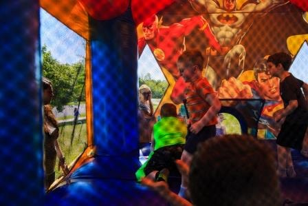 Kids in the bounce house