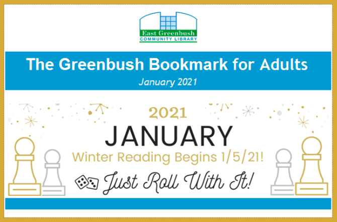 Greenbush Bookmark for Adults, January 2021 issue is available