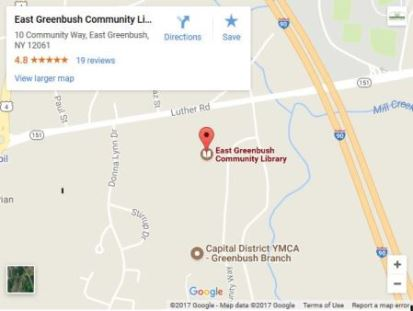 Google Map: East Greenbush Community Library