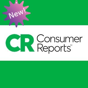 New! with Consumer Reports logo