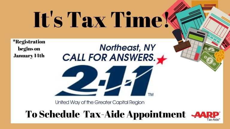 Register for a Taxaide appointment starting January 14th.